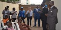 Accueil du premier convoi de rapatriement volontaire des  réfugiés ivoiriens en 2015